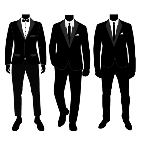 Wedding mens suit and tuxedo. Collection.