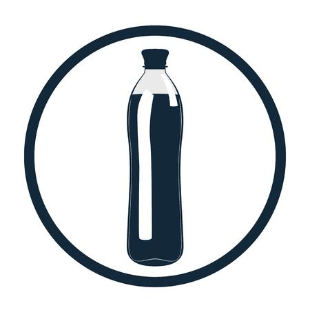 A bottle of water. Icon. Фото со стока
