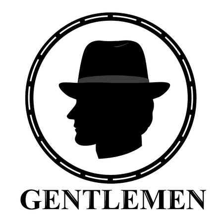Gentleman icon. icon isolated on white background. Иллюстрация