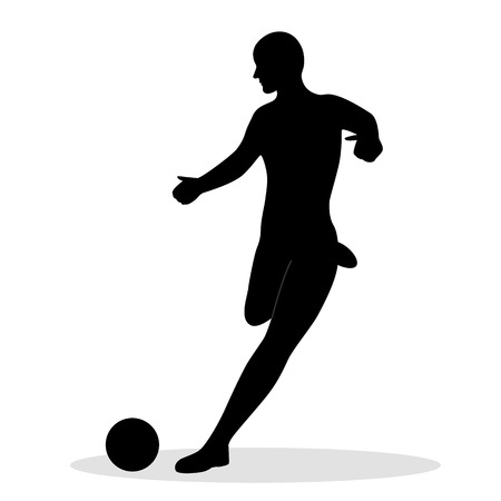 Footballer. Sport. A game. Symbol. Flat design.