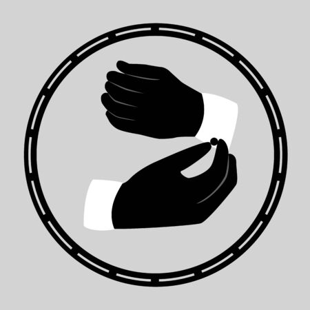 Hand icon. Human hands. Isolated object Vector illustration