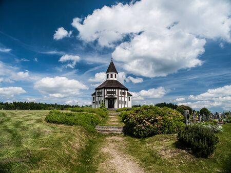 catholic chapel: Catholic chapel in Korenov  Czech Republic  Stock Photo