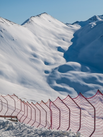 Skiing barriers in winter mountains  Switzerland  Stock Photo - 21011859
