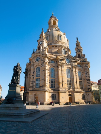 Fraunekirche - the most known cathedral in Dresden  Saxony, Germany  photo