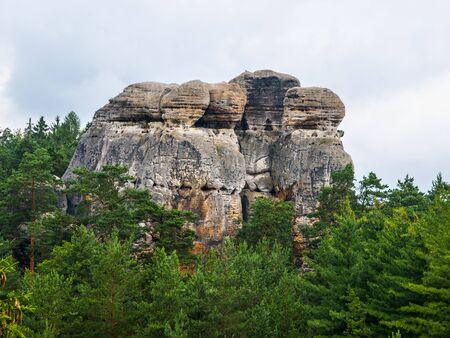 stoney point: Sandstone formations in Bohemian Paradise  Czech Republic