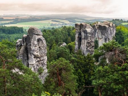 stoney point: Sandstone formations in Bohemian Paradise  Czech Republic