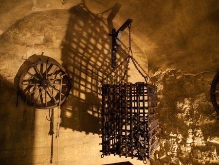 Cage in torture chamber  Czech Republic