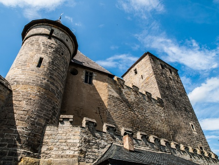 donjon: Kost castle near Turnov  Czech Republic  Stock Photo