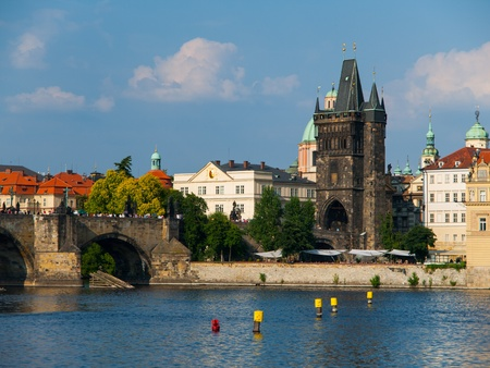 Old Town Bridge Tower at Charles Bridge  Prague, Czech Republic  photo