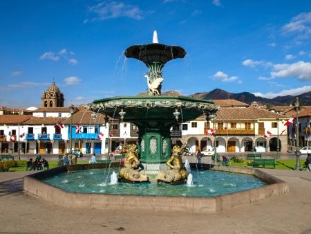 plaza de armas: Plaza de Armas in Cusco  Peru