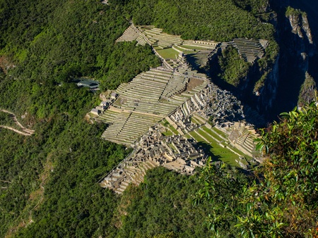 View of Machu Picchu from Huyana Picchu  Peru  photo