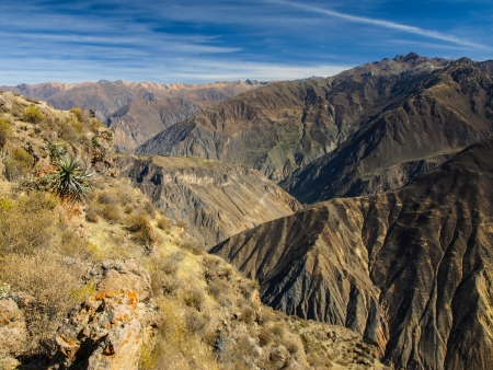 the deepest: The deepest canyon in the world - Colca  Peru  Stock Photo