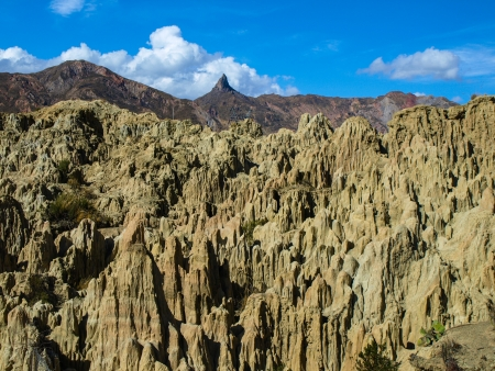 Valley of the Moon - Valle de la Luna near La Paz  Bolivia  photo