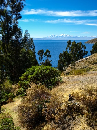 View of Titicaca lake from Island of the Sun  Bolivia  photo