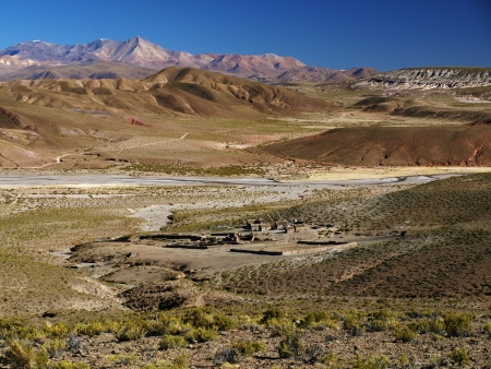 Landscape of Cordillera de Lipez (Bolivia) photo