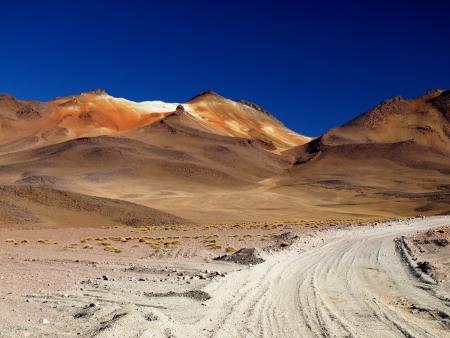borax: Borax mountain in southern Altiplano (Bolivia) Stock Photo