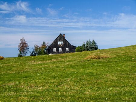 lonesome: Cottage in Jireka village (Czech Republic) Stock Photo