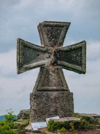maltese: Maltese cross at Stepanka view tower (Korenov, Czech Republic)