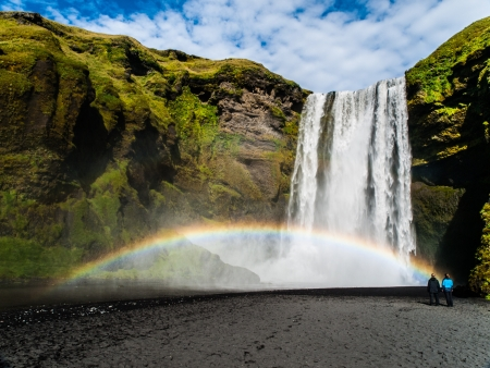Skogafoss - one of the most beautiful waterfalls in the World (Iceland) Stock Photo - 21264799