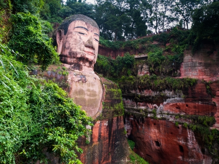 chinese buddha: The largest Budha in the world (Leshan, Sichuan, China) Stock Photo