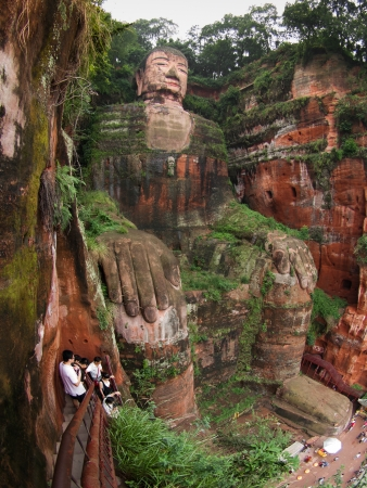 Big Buddha: The largest Budha in the world (Leshan, Sichuan, China) Editorial