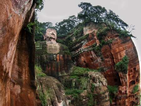The largest Budha in the world (Leshan, Sichuan, China) photo