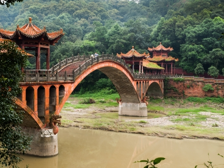 Ancient bridge near Leshan (Sichuan, China)