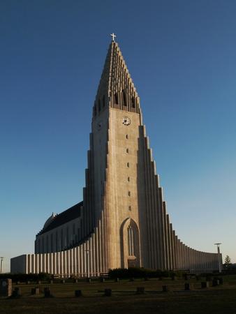 Hallgrimskirkja catedral de Reykjavik Islandia photo