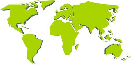 Simplified world map (vector illustration)