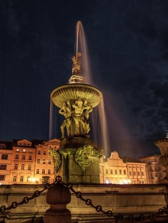 ceske: Samson fountain in Ceske Budejovice (Czech Republic)