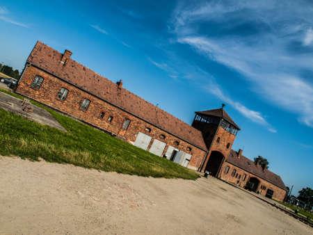 tortured: Train platform in Birkenau concentration camp (Poland)