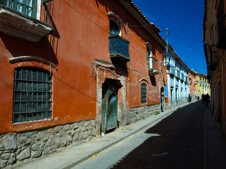 Typical street in Potosi (Bolivia)