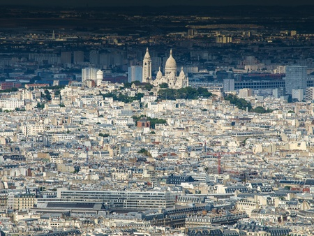 View of Montmartre and Sacre Coeur (Paris, France) photo