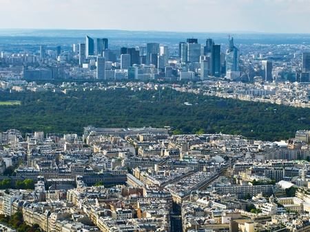 View of La Defense from Eiffel Tower (Paris, France) photo