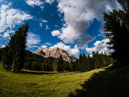 zugspitze mountain: Zugspitze - the highest mountain in Germany Stock Photo