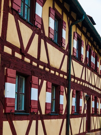 timbered: Typical timbered house in Nuremberg (Germany)