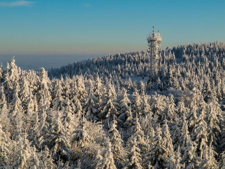 Winter landscape in the north of Bohemia (Czech Republic) photo