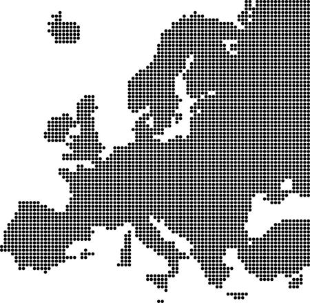 Dotted map of Europe (vector illustration)