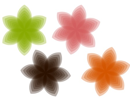 Transparent blooming - vector illustration Vector