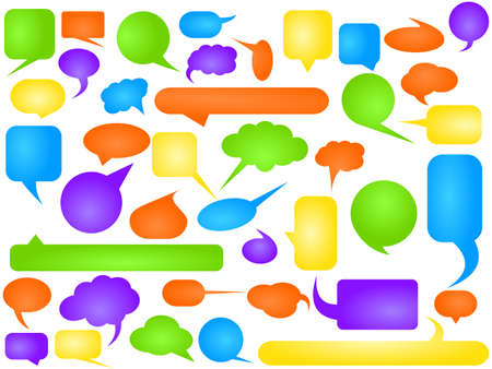 Talking bubbles - vector illustration Vector