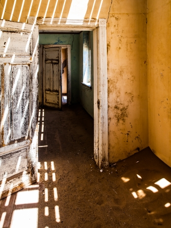 House interior in Kolmanskop ghost town (Namibia) photo