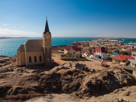 Luderitz general view with church (Namibia)