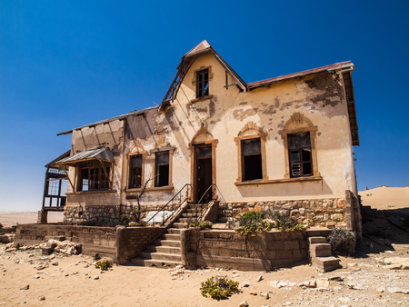 Quartermaster's house in Kolmanskop ghost town (Namibia) photo