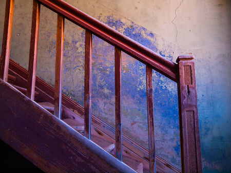 Old staircase in Kolmanskop ghost town (Namibia) photo
