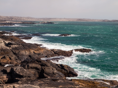 luderitz: Rocky coast of Atlantic ocean (Namibia)