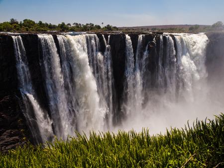 cataract falls: Main Cataract of Victoria Falls (from Zimbabwean side)