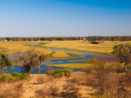 Chobe river on the border between Botswana and Namibia