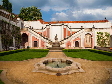 Lederburg garden under the Prague Castle (Czech Republic)