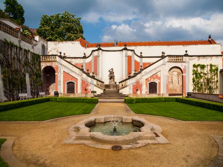 Lederburg garden under the Prague Castle (Czech Republic)