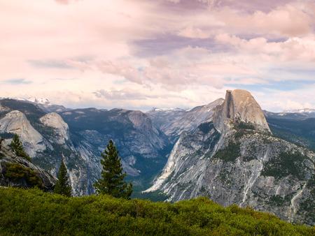 half dome: Yosemite National Park and Half Dome (California, USA)